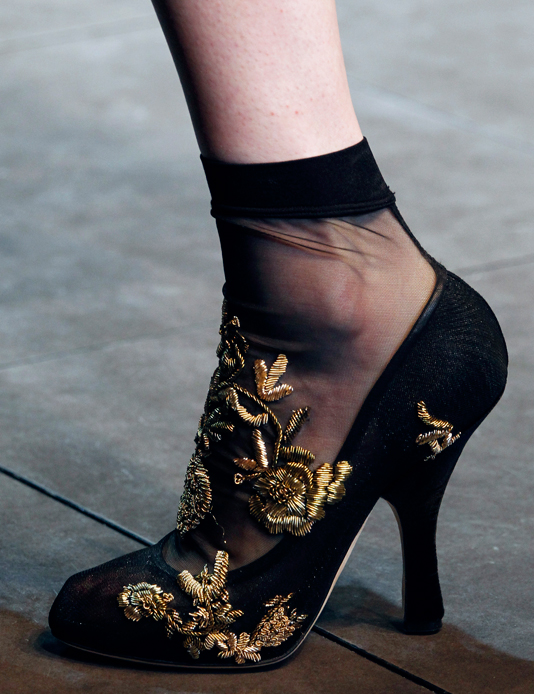 Dolce & Gabbana Fashion Show Winter 2013 - Shoe detail