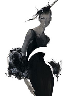 Fashion illustration by the amazing David Downton