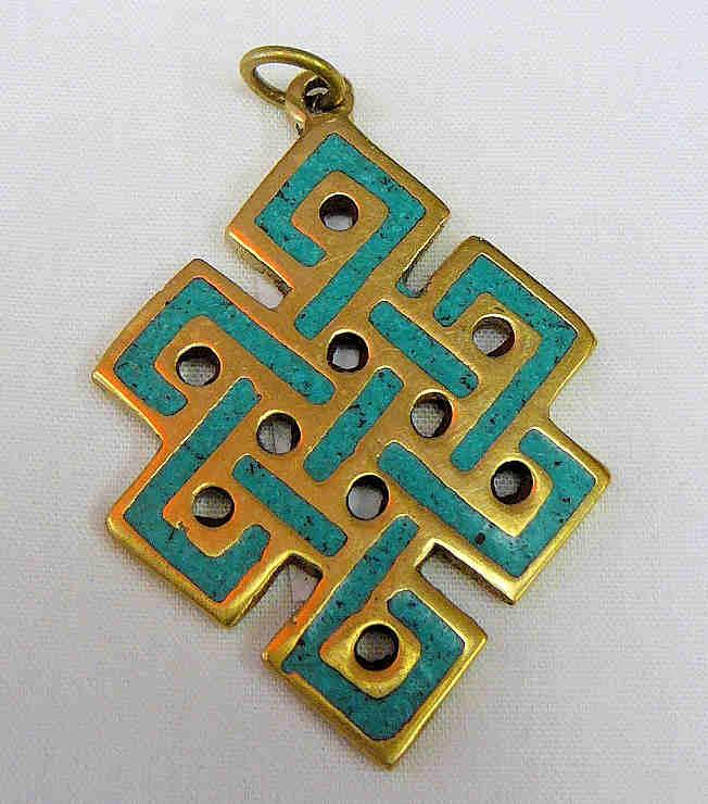 Tibetan Love Knot Pendant