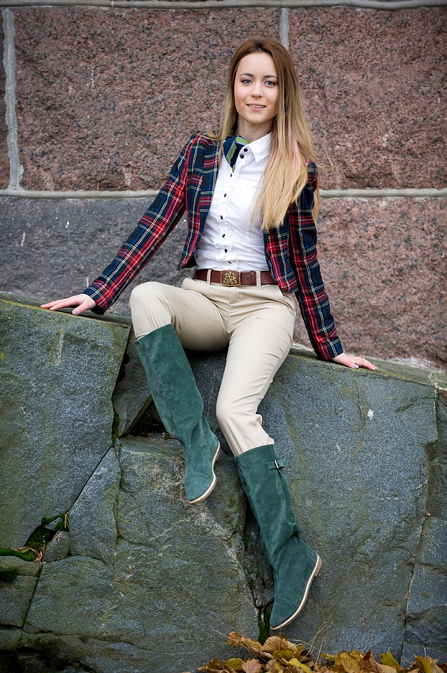 Plaid Jacket american style look