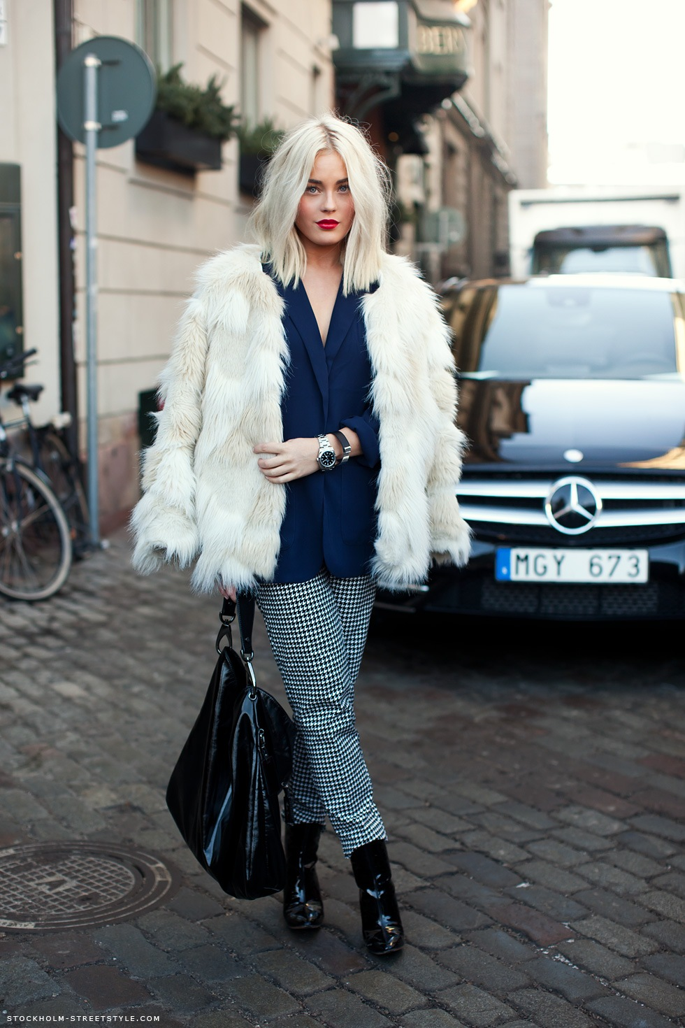 Stockholm Streetstyle: Printed Pants