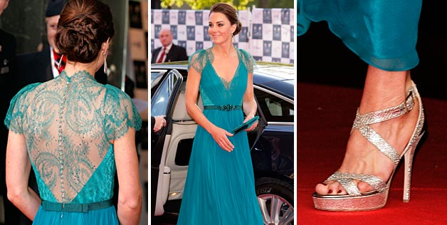 Kate Middleton's teal dress is just absurdly beautiful