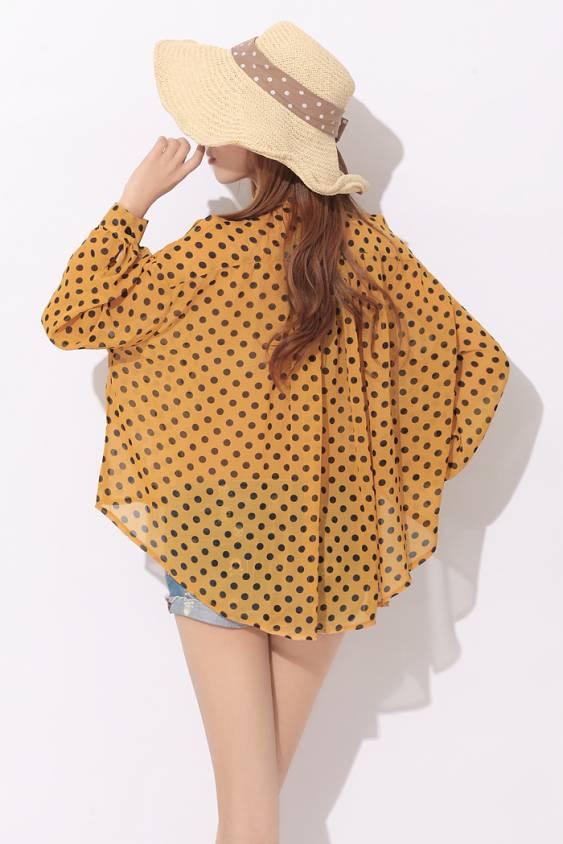 Yellow Polka Dot Blouse 2