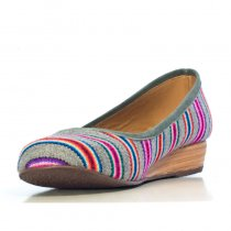Inti Striped Grey | Handmade Shoes | Inca Boot Company