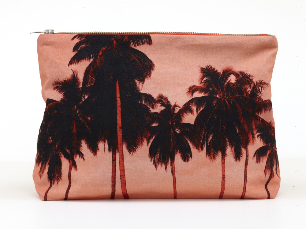 Flamingo Palms Pouch