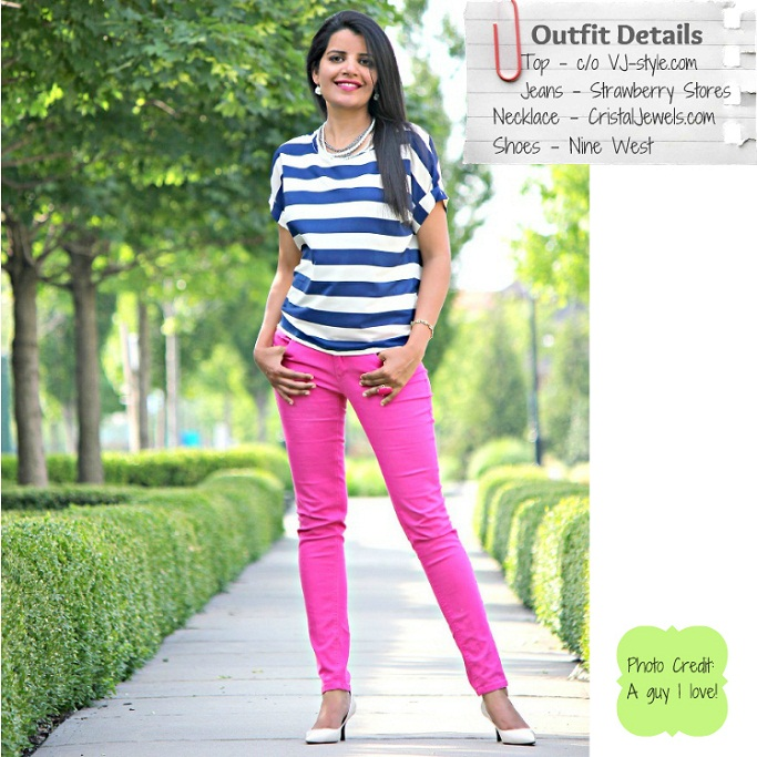 Style-Delights: Summer Trend - Nautical Stripes And Candy Colored Jeans