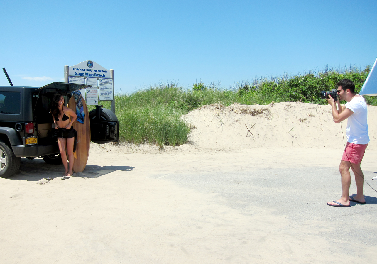 Katie Lee on Sagg Main Beach
