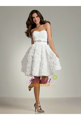 Short Wedding Dress on Strapless Scoop Neck Ball Gown Fun   Flirty Sexy Short Wedding Dress