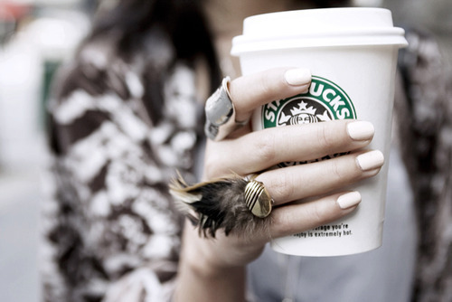 awesome rings, and of course Starbucks