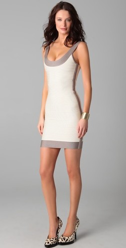 White cocktail dress on colorblock round neck cocktail dress white