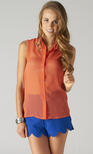 SEMI SHEER STUDDED BLOUSE | PUBLIK | Women's Clothing & Accessories