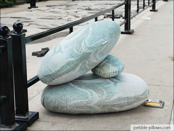 River Rock Floor Pillows : River Rocks Living Stone Pillows StyleCaster