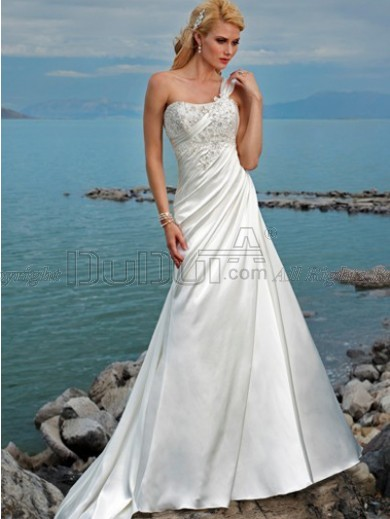 Free Shipping Wedding Dress With Appliques