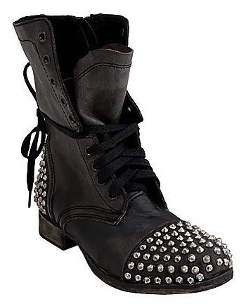Want: Steve Madden Studded Biker Boots   StyleCaster News