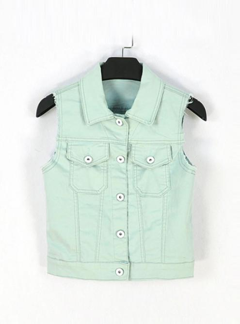 Light Blue Denim Vest $36.00