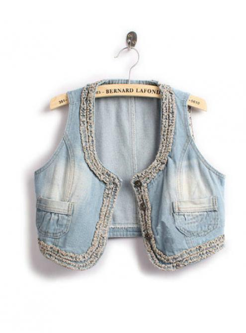 Blue Denim Vest $36.00