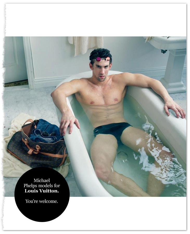 Michael Phelps Models for Louis Vuitton | ICON