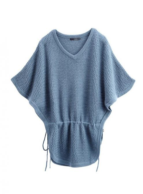 Bat Sleeve Wool Blue Sweater$50.00
