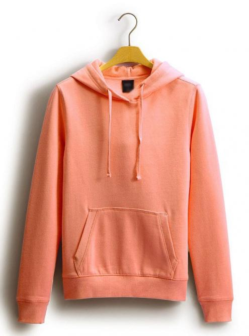 Candy Red Simple Plain Hoodie Pullover$46.00