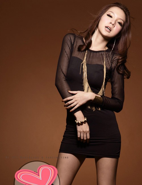 Forever Pretty Fashion Supplier - Charming Gauze Splicing Long Sleeve Full