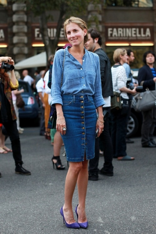 marina in denim... on denim