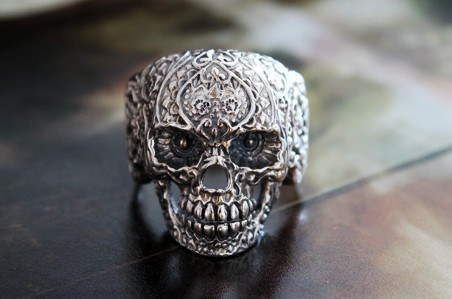 Punk Style Silver Skull Rings