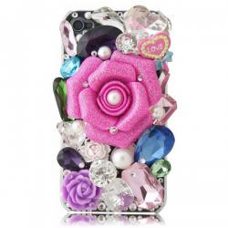 Luxury Pink Roses and Rhinestones iPhone 4/4S Case - Free Shipping | Pincas