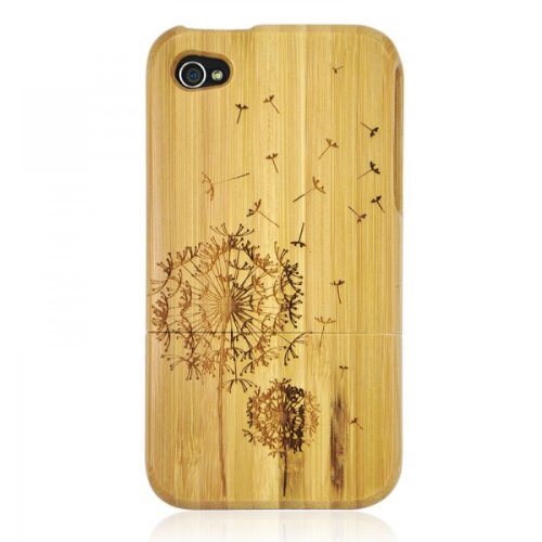 Bamboo IPhone4/4s Case- Carved Dandelion