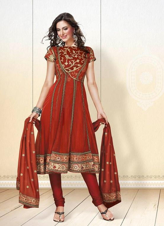 Exotic Crimson Salwar Kameez