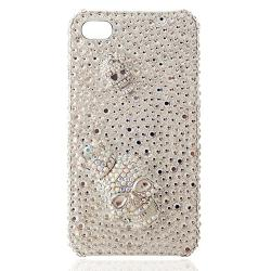 Double Skulls Rhinestone iPhone 4/4S Cases
