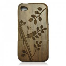Cute Rabbit Walnut Wood iPhone 4/4S Case