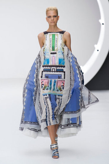 Talk about hitting it right on the money (print)! [Mary Katrantzou Spring 2013-London Fashion Week]