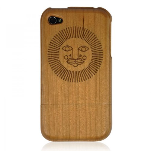 Cherry Wood Iphone4/4s Case-sun Face