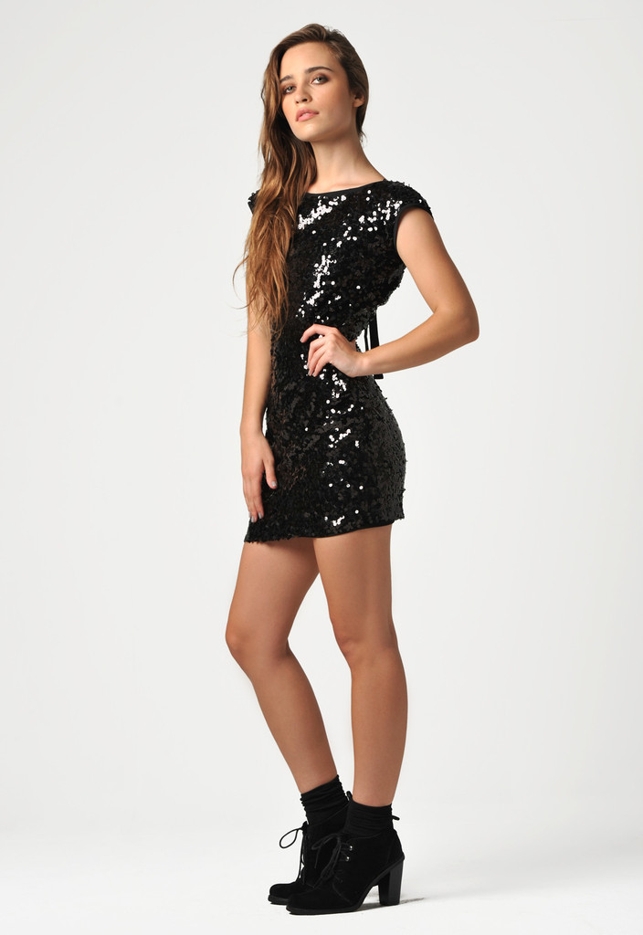 Star Crossed Sequin Dress - LAST NIGHT