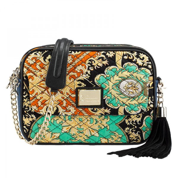 Baroque Print Shoulder Bag