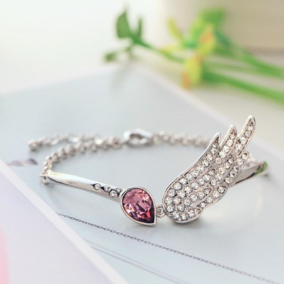 Angel Wing Bracelet with Swarovski Element