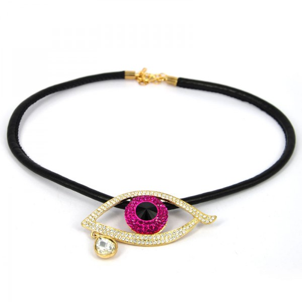 Tear Of Joy Big Eye Necklace