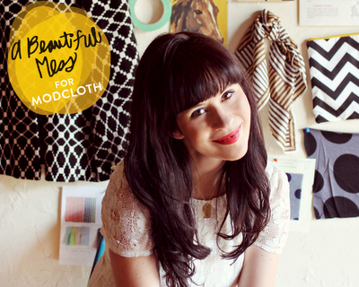 The Fashion Expressway: Blogger Collaboration: A Beautiful Mess x Modcloth