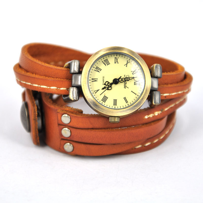 Light Brown Leather Band Watch - $31.99 USD