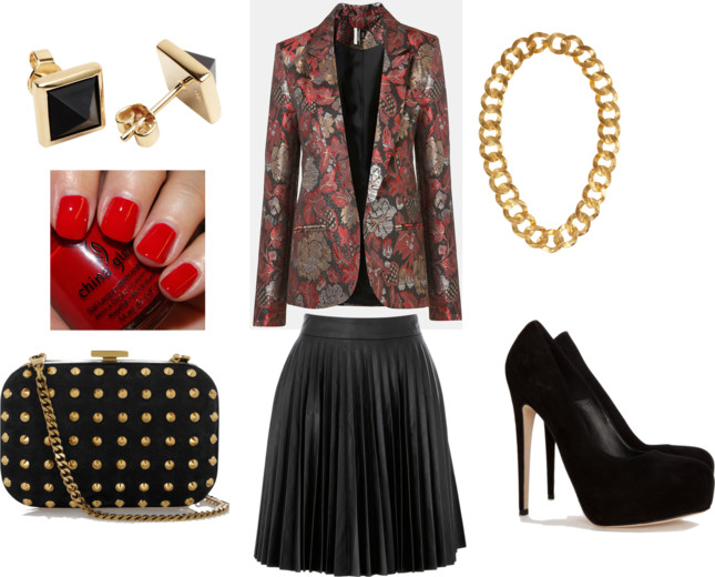 The Fashion Expressway: How to Wear: Brocade Printed Blazer