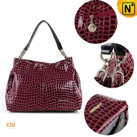 handle black/red women's leather shoulder handbags on sale, CWMALLS