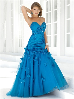 Prom Dress Sale on Tulle Flower Taffeta Prom Dress Pd10878 For Sale  We Have More Dresses