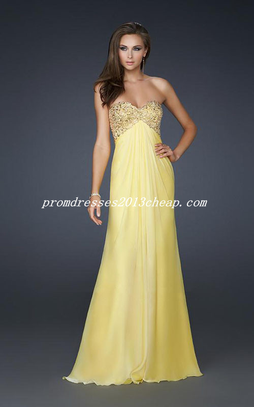 Yellow Cheap Prom Dresses 119