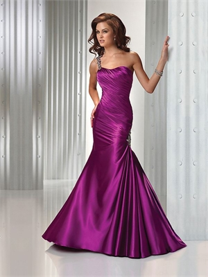 Dress Sale on Beaded Satin Purple Prom Dress Pd10467 For Sale  We Have More Dresses