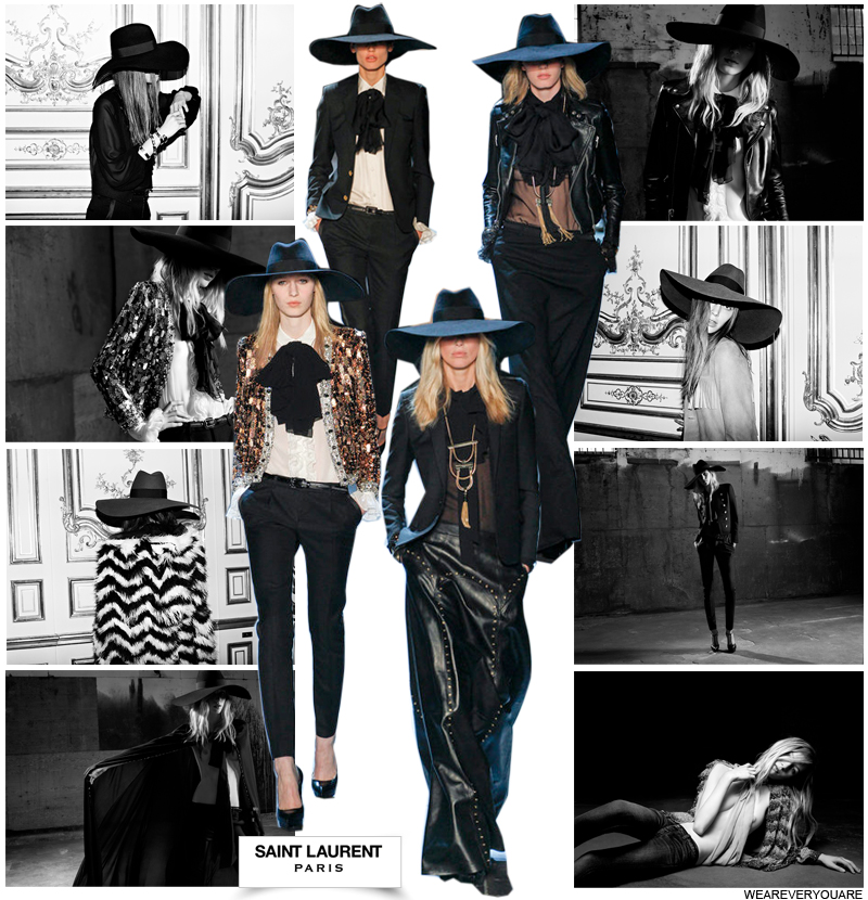 Saint-Laurent Paris: Runway + Campaign