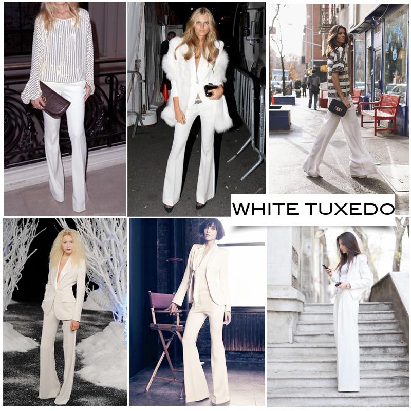 Woman White Tuxedo Trend 2013