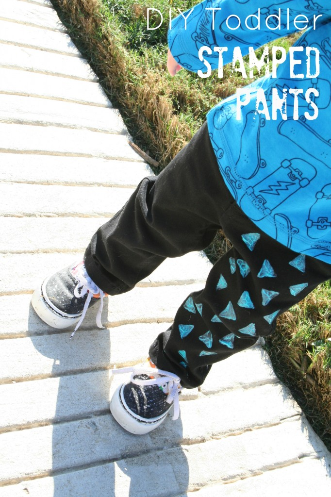 DIY Toddler Stamped Pants - the sTORIbook