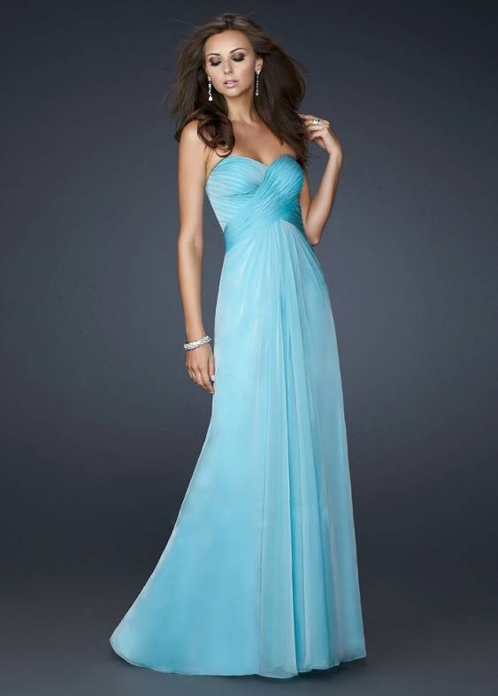Blue Strapless Prom Dresses 2013 Long Sale - $159.00