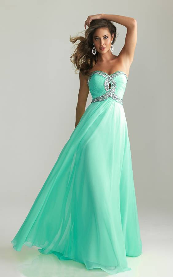 Beaded Night Moves 6642 Aqua Long Prom Dress