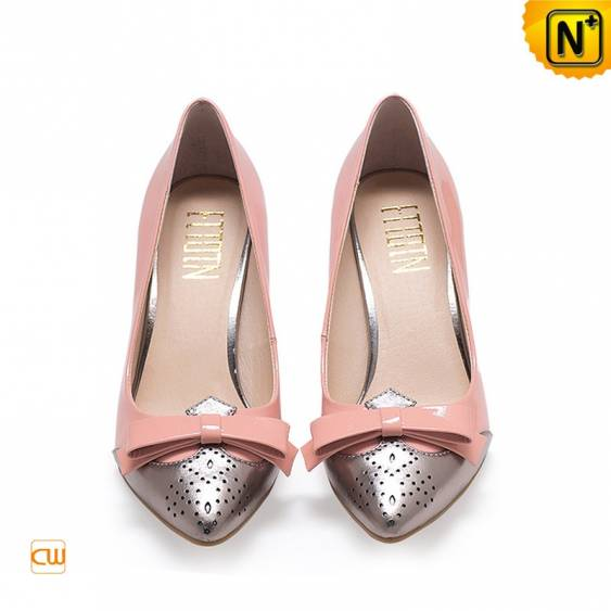 Women Patent Leather Pumps Shoes CW304016 - cwmalls.com